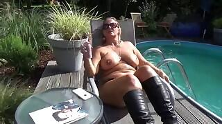 NudeChrissy - Boots At The Pool Videos